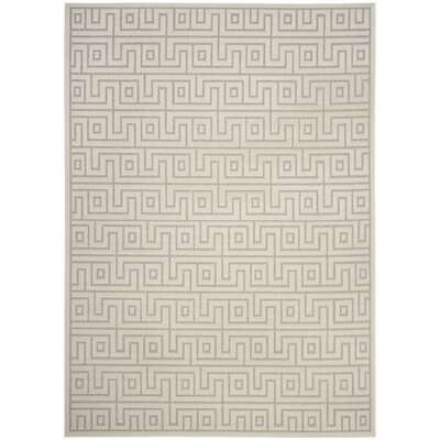 Apollina Light Gray/Cream Indoor/Outdoor Area Rug Rug Size: Rectangle 8' x 11'2