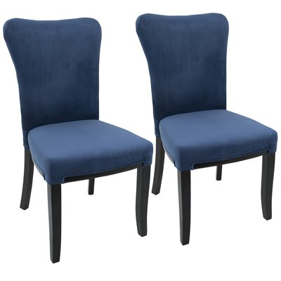Neville Side Chair Upholstery: Navy Blue