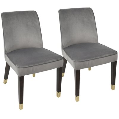 Ginnie Side Chair Upholstery: Silver