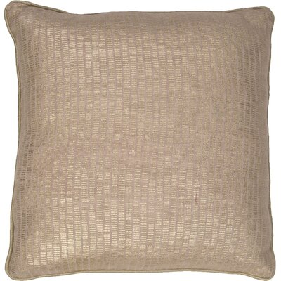 Remer Cotton Pillow Cover Color: Champagne Beige
