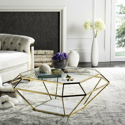 Coletta Coffee Table with Magazine Rack