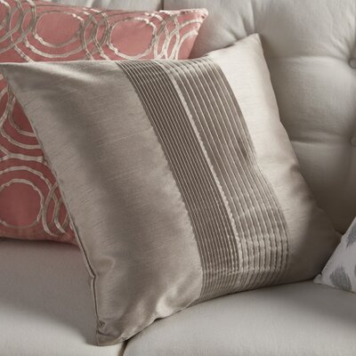 Arber Pleated Throw Pillow Cover Size: 22 H x 22 W x 1 D, Color: Light Gray