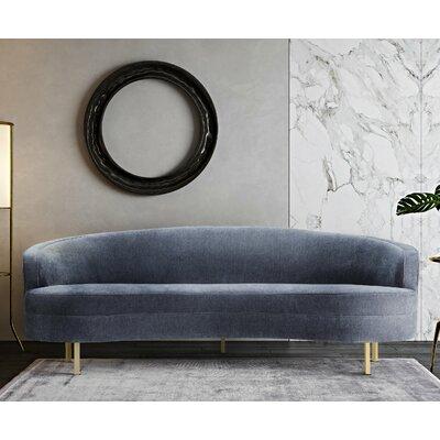 Hewitt Velvet Sofa Upholstery: Grey