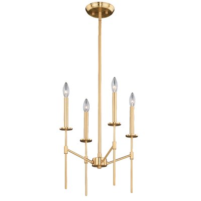 Renteria 4-Light Candle-Style Chandelier