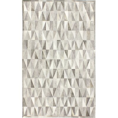 Heath Hand-Woven Grey Area Rug Rug Size: 9 x 12