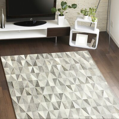 Heath Hand-Woven Grey Area Rug Rug Size: 5 x 8
