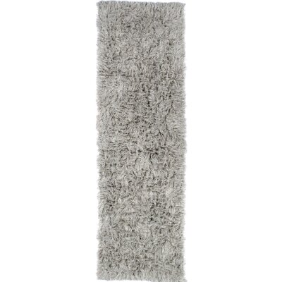 Gherardo Hand-Woven Wool Gray Area Rug Rug Size: Runner 26 x 8