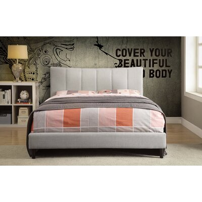 Euphemia Fabric Platform Bed Color: Blue, Size: Double