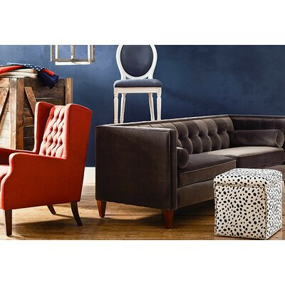Sprimont Tuxedo Sofa Upholstery: Dark Charcoal Grey