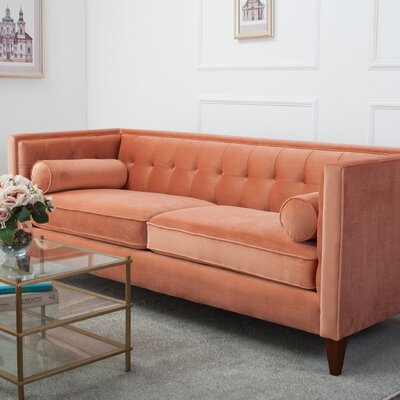 Harcourt Chesterfield Sofa Color: Orange