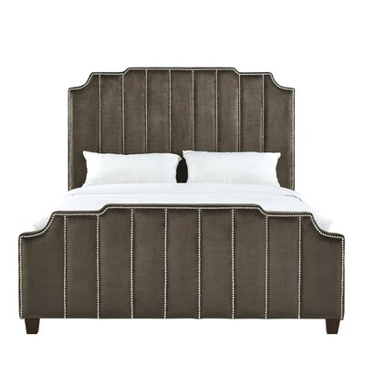 Elof Velvet Upholstered Panel Bed Upholstery: Brown, Size: King
