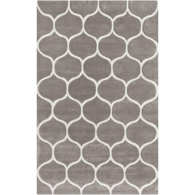 Duffield Hand-Tufted Ivory/Taupe Area Rug Rug size: Rectangle 5 x 8