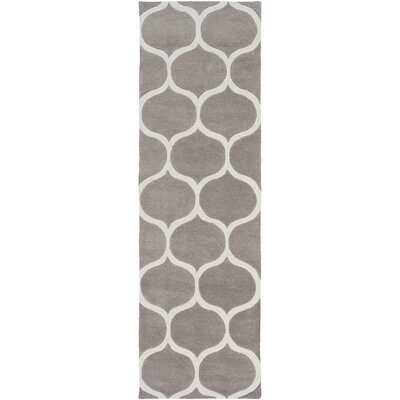 Duffield Hand-Tufted Ivory/Taupe Area Rug Rug size: Runner 26 x 8