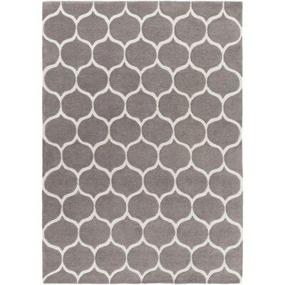 Duffield Hand-Tufted Ivory/Taupe Area Rug Rug size: Rectangle 8 x 11