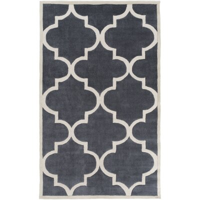 Duffield Ivory/Light Gray Geometric Area Rug Rug Size: 8 x 11