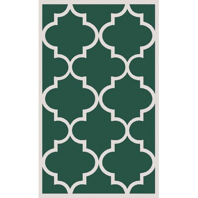 Duffield Green Geometric Area Rug Rug Size: Rectangle 5 x 8