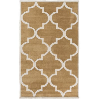 Duffield Burnt Hand-Tufted Orange/Ivory Geometric Area Rug Rug Size: 2 x 3