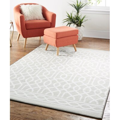 Natosha Twisted Rope Gray Area Rug Rug Size: 5 x 7