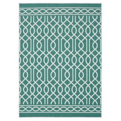 Chaunce Twisted Rope Aqua Area Rug Rug Size: Rectangle 76 x 10