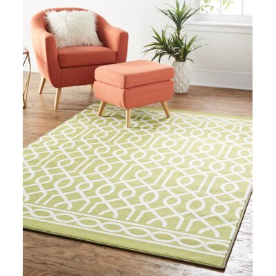Chaunce Twisted Rope Green Area Rug Rug Size: 5 x 7