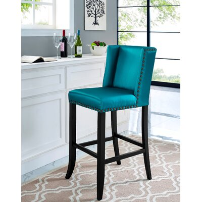 Duggins 30 Bar Stool with Wood Frame