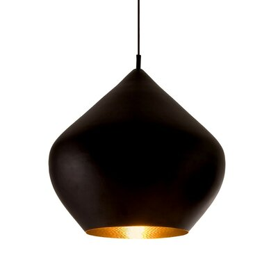 Candide Black 1-Light Pendant Finish: Black
