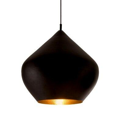 Candide Black 1-Light Pendant Finish: Black