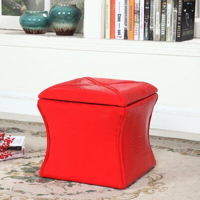 Randle Storage Ottoman Upholstery: Red
