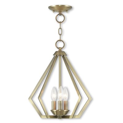 Raney 3-Light Foyer Pendant Finish: Antique Brass