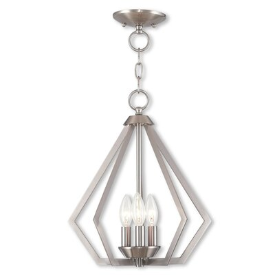 Borasisi 3-Light Foyer Pendant Finish: Brushed Nickel