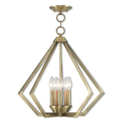 Borasisi 5-Light Foyer Pendant Finish: Antique Brass