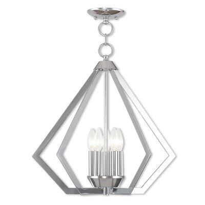 Borasisi 5-Light Foyer Pendant Finish: Polished Chrome