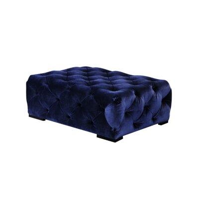 Aubin Rectangular Ottoman Upholstery: Navy