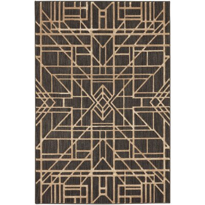 Rankin Sketchy Black/Gold Area Rug Rug Size: 8 x 10