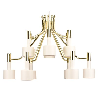 Rapoza 12-Light Shaded Chandelier Shade Color: White