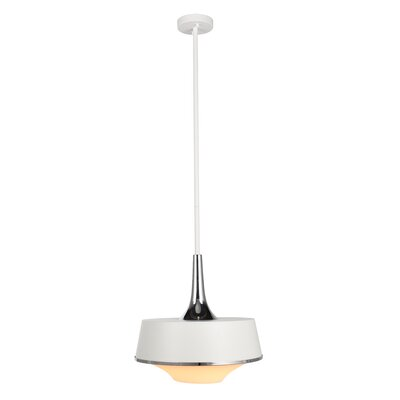 Rapp 1-Light Schoolhouse Pendant Finish: Silver/White