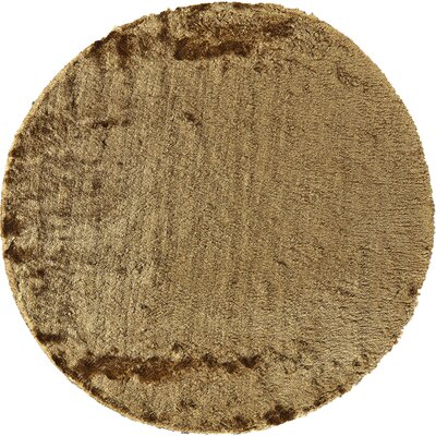 Danae Hand-Tufted Brown Area Rug Rug Size: Round 8
