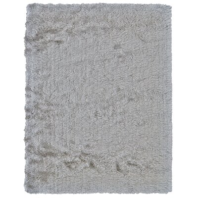 Danae Hand-Tufted Platinum Area Rug Rug Size: Rectangle 36 x 56