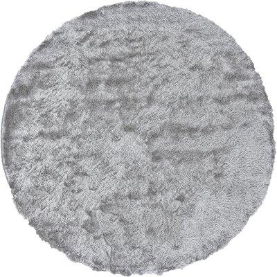 Danae Hand-Tufted Platinum Area Rug Rug Size: Round 8