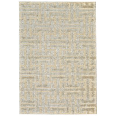 Adkins Cream/Ecru Area Rug Rug Size: Rectangle 53 x 76
