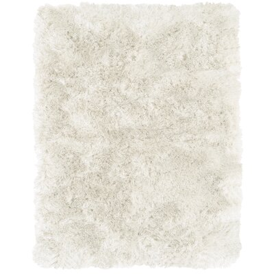 Danae Hand-Tufted White Area Rug Rug Size: Rectangle 76 x 96