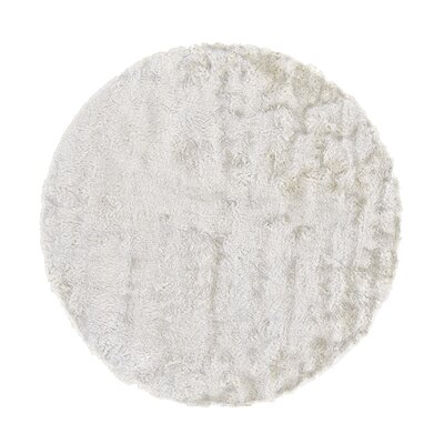 Rasalhague Hand-Tufted White Area Rug Rug Size: Round 10