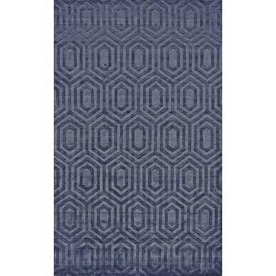 Raskin Hand-Woven Blue Area Rug Rug Size: Rectangle 86 x 116