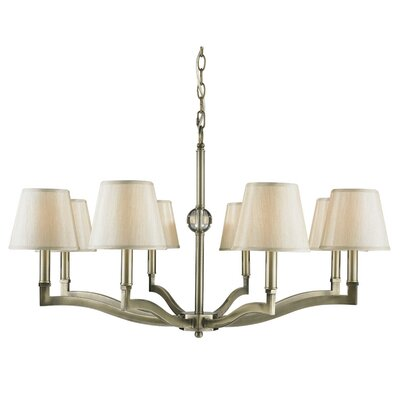 Deziree 8-Light Shaded Chandelier Shade Color: Parchment