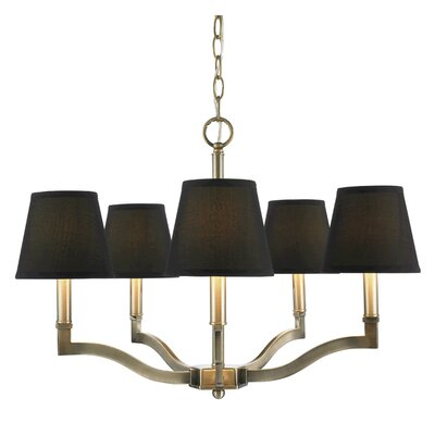 Deziree 5-Light Shaded Chandelier Shade Color: Groom