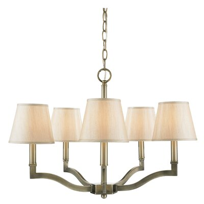 Deziree 5-Light Shaded Chandelier Shade Color: Parchment
