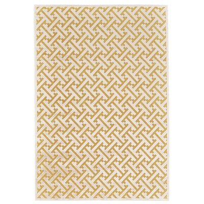 Gwendoline Yellow Area Rug Rug Size: Rectangle 53 x 76