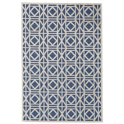 Gwendoline Blue Area Rug Rug Size: Rectangle 76 x 106