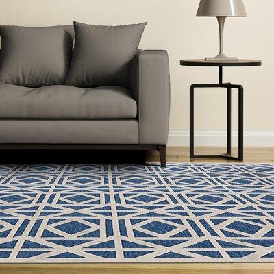 Gwendoline Blue Area Rug Rug Size: Rectangle 53 x 76