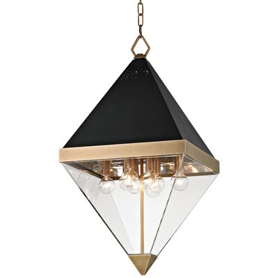 Rosato 8-Light Foyer Pendant Finish: Aged brass/Black textured